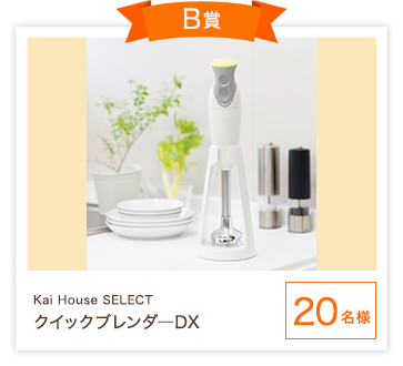 B賞 Kai House SELECT クイックブレンダ—DX 20名様